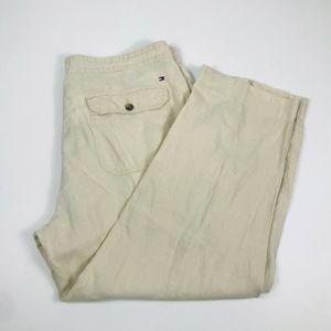 Tommy Hilfiger Mens 38 x 28 100% Linen Pants